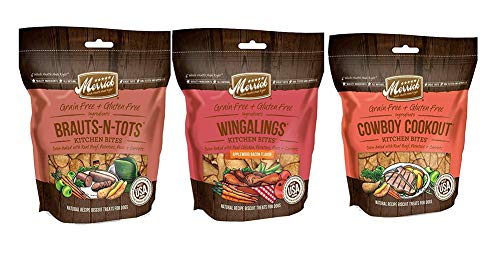 Merrick Grain Free Kitchen Bites Dog Treats 3 Flavor Variety Bundle: (1) Cowboy Cookout, (1) Wingalings & (1) Brauts-N-Tots (3 Bags Total, 9 Oz Ea) Plus 9-Inch Gripstic Bag Sealing Rod – 4 Items Total Review