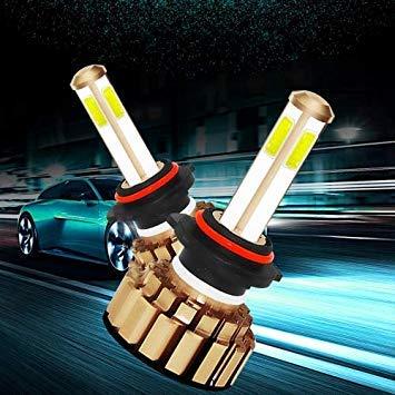 Uniqus 2 PCS Auto Car HB4 9006 28W 2200LM 6000K Pure White COB LED Headlight Bulbs Conversion Kit, DC 9-36V