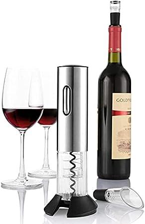 Abridor de botellas de vino eléctrico automático abridor de botellas de vino kit sacacorchos eléctrico abridor de vino inalámbrico tapón de vacío Herramientas de barra
