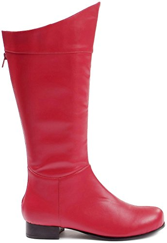 Mens Superhero Boots - Shazam Boots Adult Costume Shoes Red - Large