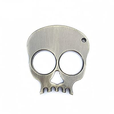 Partstock(TM) Metal Skull Keychain Keyrings Self Defense Emergency Survival Tool fits perfectly in the palm of your hand.