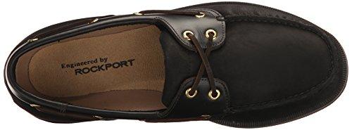 Rockport Mens Perth Boat Shoe Nero / Corteccia
