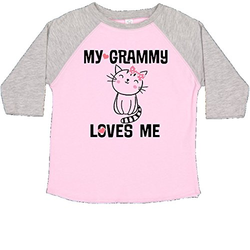 inktastic - Grammy Loves Me Girls Toddler T-Shirt 3T Pink and Heather 2bacd