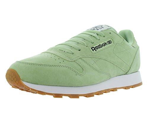 - Reebok Men's LTHR Pastels Fashion Sneaker Aloe Green/Classic White/Coal-Gum 12 M US