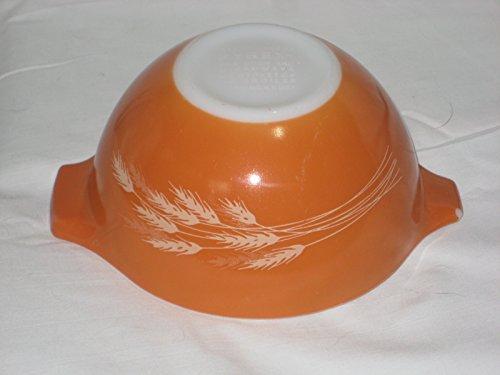 Vintage 1980's Pyrex AUTUMN HARVEST WHEAT Cinderella Orange-Brown 750 ml Batter Mixing Nesting ()