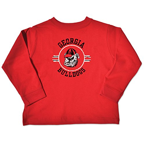 NCAA Georgia Bulldogs Toddler Long Sleeve Tee, 2 Toddler, Red