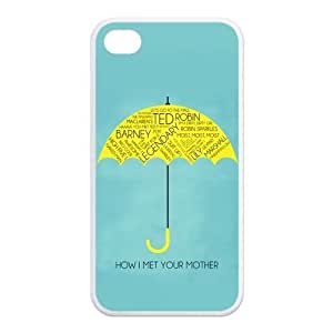 iPhone 4/4S Case, How I Met Your Mother Hard TPU Rubber Snap-on Case for iPhone 4 / 4S