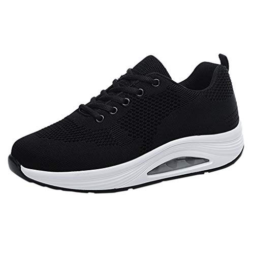 ANJUNIE Lady Flying Woven Breathable Shoes Non-Slip Wear-Resistant Cushion Sneakers