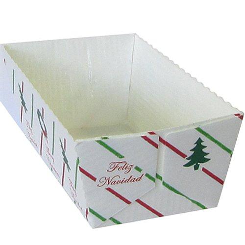Novacart Christmas Loaf Paper Baking Mold (300, 2.5'' x 5.25'' x 2.13'' high)