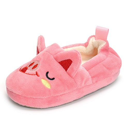 (Enteer Baby Girls' Pig Slipper (9-10 M US Toddler))