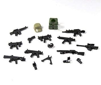 Custom Polizei Zubehör Set Für Eure Lego Figuren Mützen Pistole