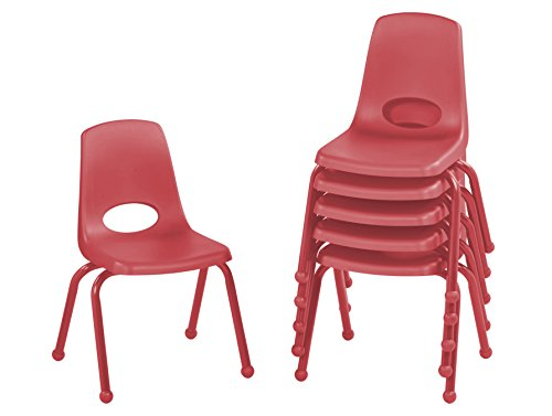 """ECR 14"""" School Stack Chair with Powder Coated Legs and Ba..."""