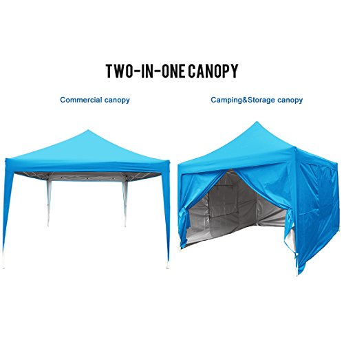 Quictent Privacy 8'x8' Blue EZ Pop Up Party Tent Canopy Gazebo Mesh Curtain Waterproof by Quictent (Image #4)