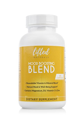 Mood Boost Anxiety Relief Supplements: Magnesium and Zinc Multivitamin Capsules With Natural Bioflavonoids Plus Vitamins C and D – Aids In The Reduction & Stabilizing Of Stress While Increasing Focus