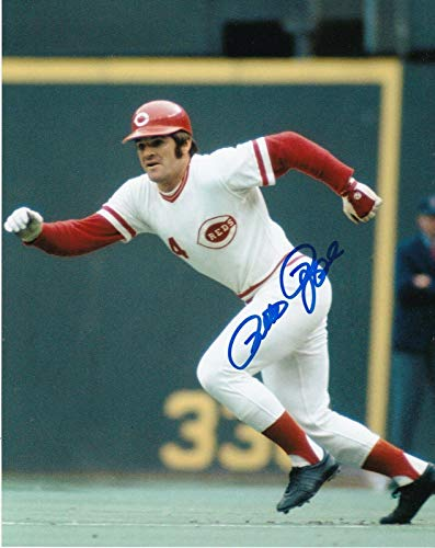 Pete Rose Signed Photograph - 8x10 - Autographed MLB Photos