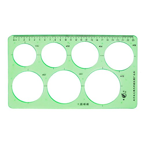 Home Mart Circle ruler template ruler plastic drawing for educational students by Home Mart (Image #1)