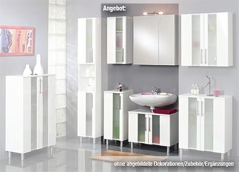 Credenza Da Bagno : Mobile da bagno trento in bianco pezzi lavabo armadio b ca
