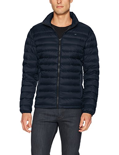 (Calvin Klein Men's Packable Down Jacket, Rich Indigo, Large)