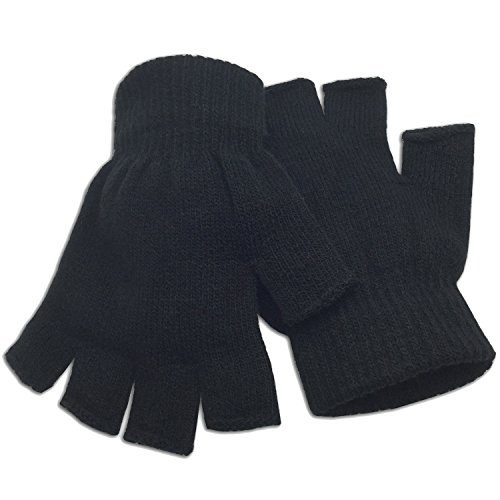 Winter Fingerless Gloves Warm Half Finger Knitted -Unisex Standard Size- (Knitted Fingerless Gloves)