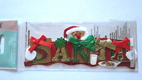Santa Title Milk Plate of Cookies Gifts Christmas Eve 3D Stickers