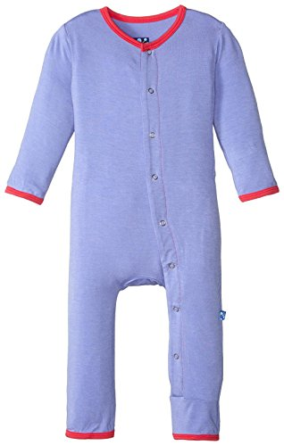 Kickee Pants Baby Girls Solid Coverall Prd Kpca212 Fmnpp  Forget Me Not With Prickly Pear  18 24 Months