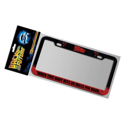Factory Entertainment Back to The Future 88 MPH License Plate Frame (Delorean License Plate Back To The Future)