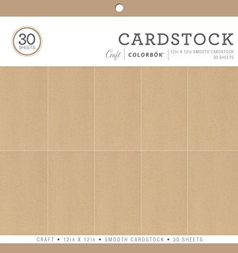 Craft Stock Paper - Colorbok Smooth Cardstock Paper Pad, 12