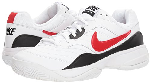 Nike Men's Court Lite Tennis Shoe, White/University red/Black, 7.5 D US by Nike (Image #6)