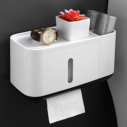 防水ティッシュボックス、壁掛けトイレットペーパーディスペンサーホームポータブルトイレットペーパーホルダー、ホームバスルームキッチンアクセサリー