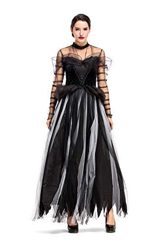 HÖTER Women's Fairy Tale Black Swan Halloween Cosplay Fancy Dress -