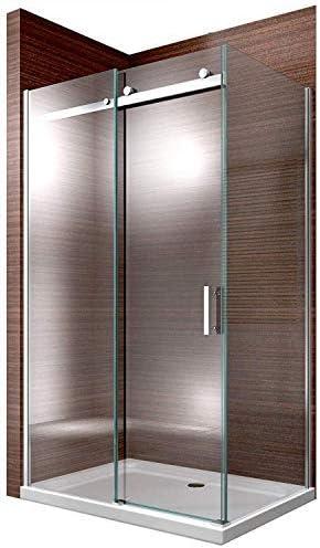 Cabina de ducha Nano 8 mm Cristal ex806 Puerta corrediza – 80 x 100 x 195 cm: Amazon.es: Hogar