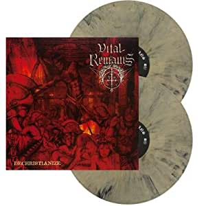 VITAL REMAINS, Dechristianize BEIGE/BLACK MARBLED - 2LP