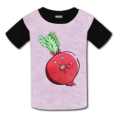 Yangjio Tee Shirt Red Carrot Costume S Short Sleeve For Youth ()