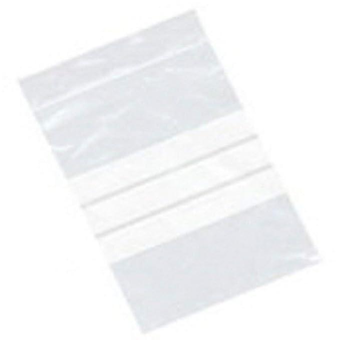 38b39c755 100 bolsas de plástico transparente de polietileno con cierre hermético,  150 x 225 mm, con paneles de escritura y cierre hermético, bolsas de  almacenamiento ...