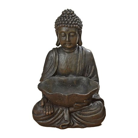 Seated Buddha with Bowl, Open Hand, 11 7/8'' by Whole House Worlds
