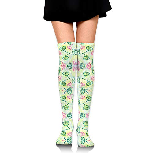 DFAUHAL Herbal Batik #3 Retro Fabric Novelty Socks Tall Socks Knee High Graduated Compression Socks for Unisex ()