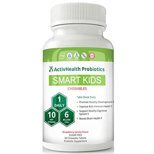 KIDS PROBIOTICS DOCTOR APPROVED - SMART KIDS 60 chewable probiotic: DESIGNED FOR...