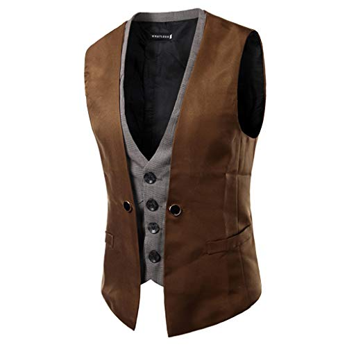 Jacket By Mens Autumn Beston Pocket Luckygirls Winter Coat Waistcoat Vest Top Brown Droit Casual r8Fq8P