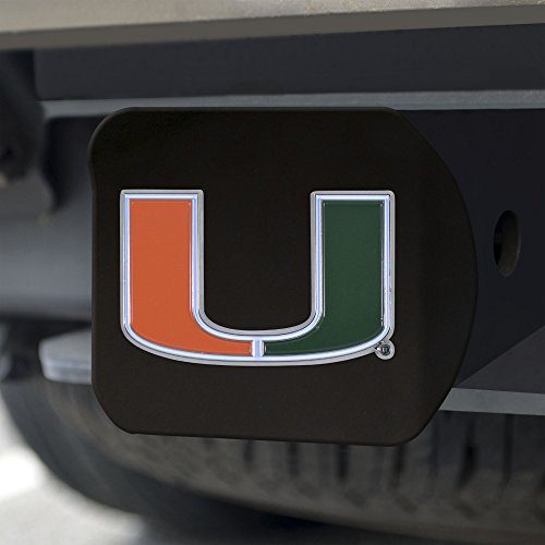 (Fanmats NCAA Miami Hurricanes University of Miamicolor Hitch - Black, Team Color, One Size )
