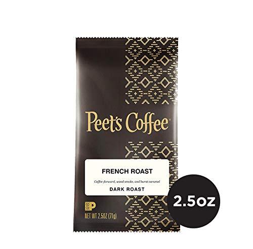 (Peet's Coffee French Roast Dark Roast Ground Coffee, 2.5 Ounce Portion Packs (Pack of 18))