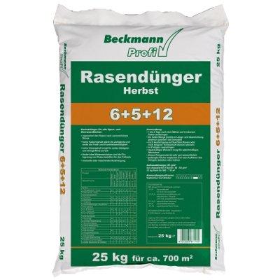 25 kg Premium Rasendünger Herbst für 700m² Beckmann Profi Rasen Dünger FREI HAUS