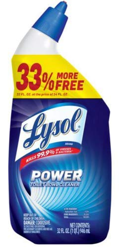 Lysol Power Toilet Bowl Cleaner (Pack of 4)