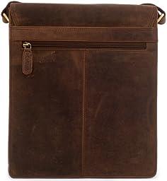 LEABAGS London genuine buffalo leather crossbody bag in vintage style - Nutmeg