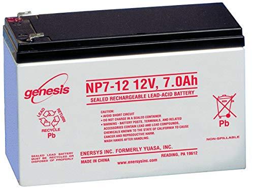 EnerSys Genesis NP7-12 12V 7Ah Sealed Lead Acid Battery ()