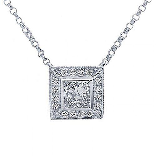 0.47 Ct Princess Diamond - 7