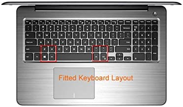 Master 7567 Notebook PC Bodu Thin Keyboard Skin Clear Protector Sticker Cover for Dell Inspiron 15-5565 15-5567 15-7566 17-5767