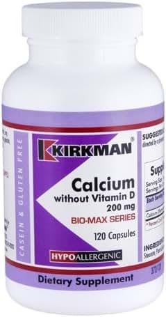 Kirkman – Calcium Without Vitamin D Bio-Max Series 200 mg Capsules