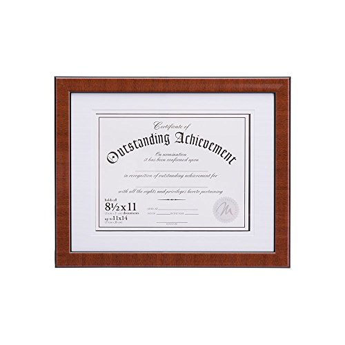 - Malden International Designs Burl Wood Document Frame, 8.5x11, Walnut