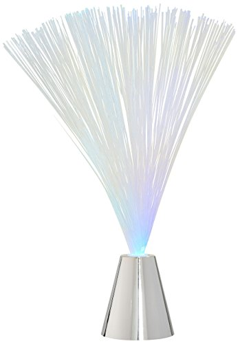 Homeford Fiber Optic Lamp Light Centerpiece, 15-Inch, White