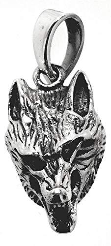 ciondolo testa di lupo in argento 925 ‰